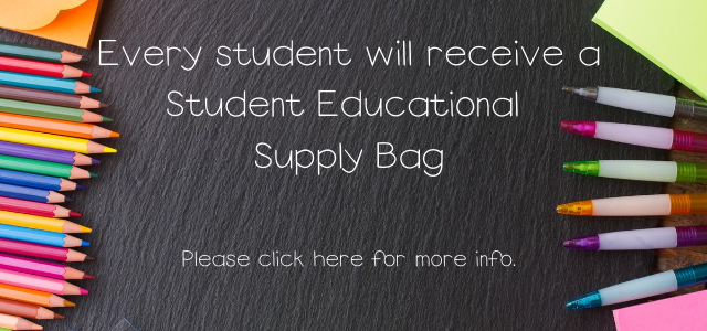 Student Educational Supply Bag